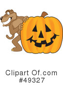 Cougar Mascot Clipart #49327 by Toons4Biz