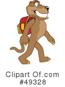 Cougar Mascot Clipart #49328 by Toons4Biz