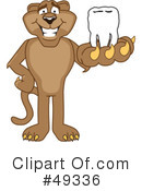 Cougar Mascot Clipart #49336 by Toons4Biz