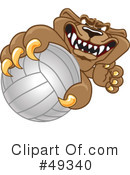 Cougar Mascot Clipart #49340 by Toons4Biz