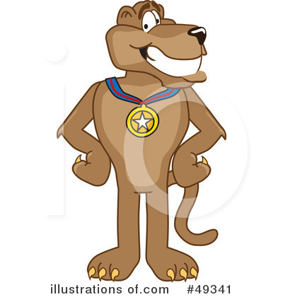Cougar Mascot Clipart #49341 by Toons4Biz