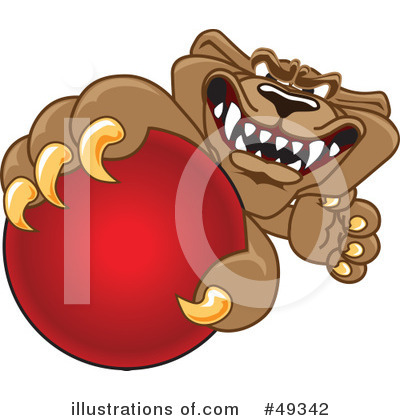 Cougar Mascot Clipart #49342 by Toons4Biz