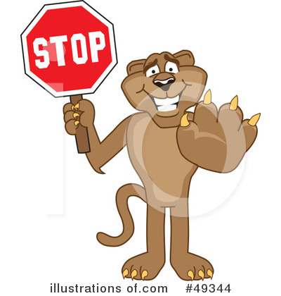 Cougar Mascot Clipart #49344 by Toons4Biz