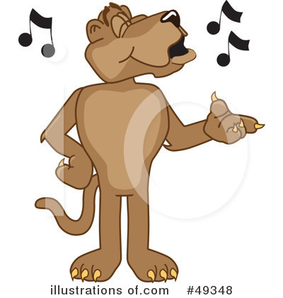 Cougar Mascot Clipart #49348 by Toons4Biz