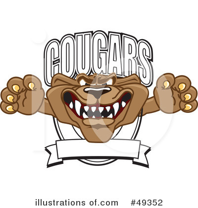 Cougar Mascot Clipart #49352 by Toons4Biz