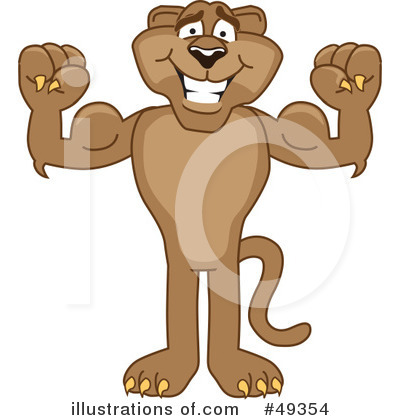 Cougar Mascot Clipart #49354 by Toons4Biz