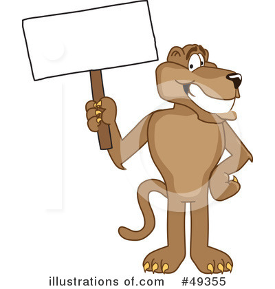 Cougar Mascot Clipart #49355 by Toons4Biz
