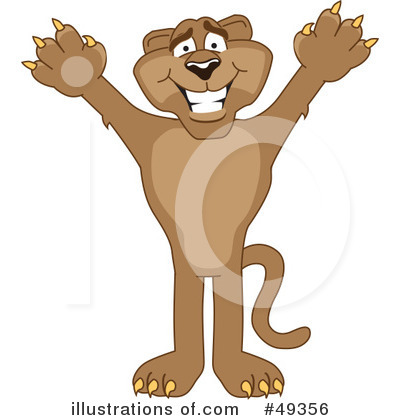 Cougar Mascot Clipart #49356 by Toons4Biz