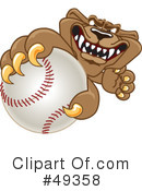 Cougar Mascot Clipart #49358 by Toons4Biz