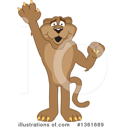 Cougar Mascot Clipart #1361689 by Toons4Biz