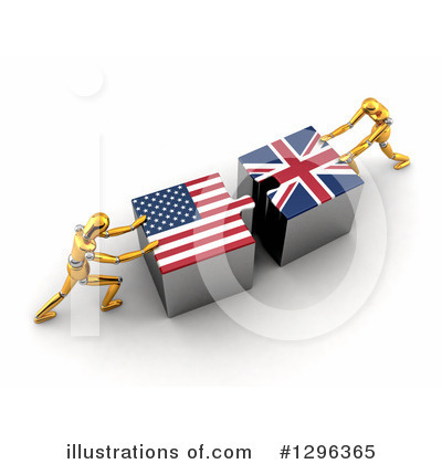 American Flag Clipart #1296365 by stockillustrations
