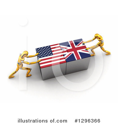 American Flag Clipart #1296366 by stockillustrations