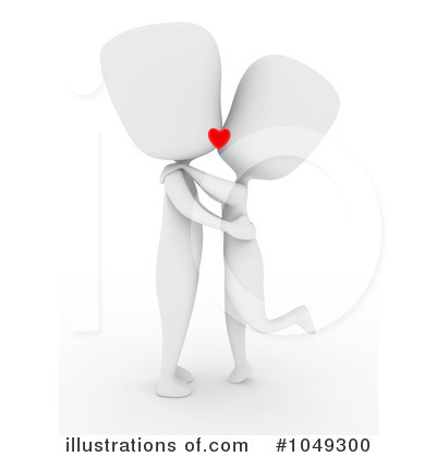 Kissing Couple Clipart #1049300 by BNP Design Studio