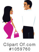 Royalty-Free (RF) couple Clipart Illustration #1059760