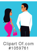 Royalty-Free (RF) couple Clipart Illustration #1059761