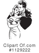 Royalty-Free (RF) couple Clipart Illustration #1129222