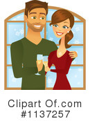 Royalty-Free (RF) couple Clipart Illustration #1137257