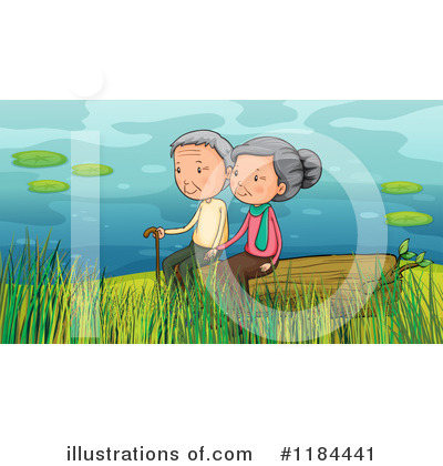Old Couple Clipart #1184441 by Graphics RF