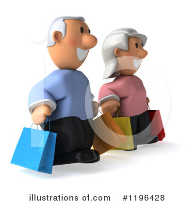 Senior Couple Clipart #1196428 by Julos