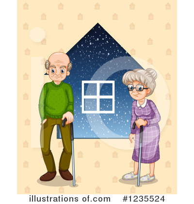 Old Couple Clipart #1235524 by Graphics RF