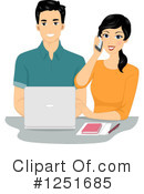 Royalty-Free (RF) Couple Clipart Illustration #1251685