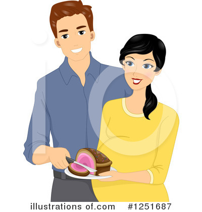 Royalty-Free (RF) Couple Clipart Illustration by BNP Design Studio - Stock Sample #1251687