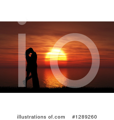Kissing Couple Clipart #1289260 by KJ Pargeter