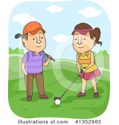 Golfing Clipart #1352665 by BNP Design Studio