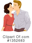 Royalty-Free (RF) Couple Clipart Illustration #1352683