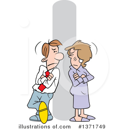 Couple Clipart #1371749 by Johnny Sajem