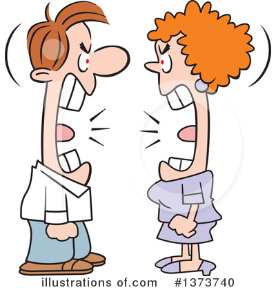 Couple Clipart #1373740 by Johnny Sajem