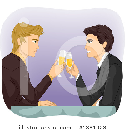 Royalty-Free (RF) Couple Clipart Illustration by BNP Design Studio - Stock Sample #1381023