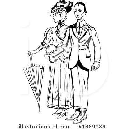 Couple Clipart #1389986 by Prawny Vintage