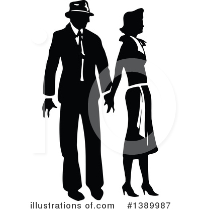 Couple Clipart #1389987 by Prawny Vintage