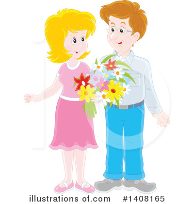 Couple Clipart #1408165 by Alex Bannykh