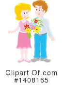 Royalty-Free (RF) Couple Clipart Illustration #1408165