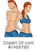 Royalty-Free (RF) Couple Clipart Illustration #1408793