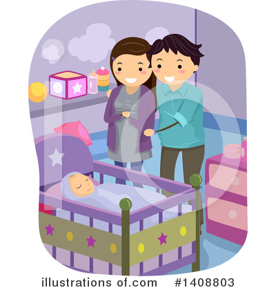 Crib Clipart #1408803 by BNP Design Studio