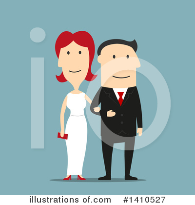 Wedding Couple Clipart #1410527 by Vector Tradition SM