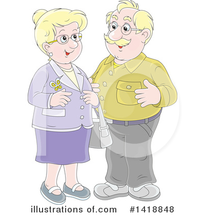 Senior Couple Clipart #1418848 by Alex Bannykh