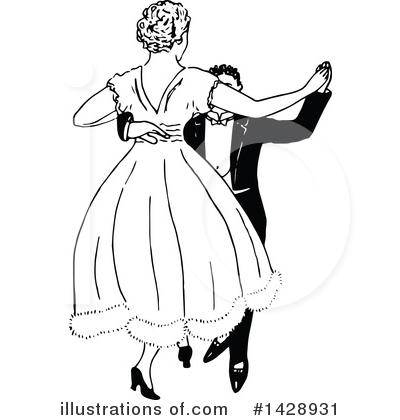 Dancing Clipart #1428931 by Prawny Vintage