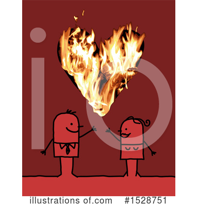 Royalty-Free (RF) Couple Clipart Illustration by NL shop - Stock Sample #1528751