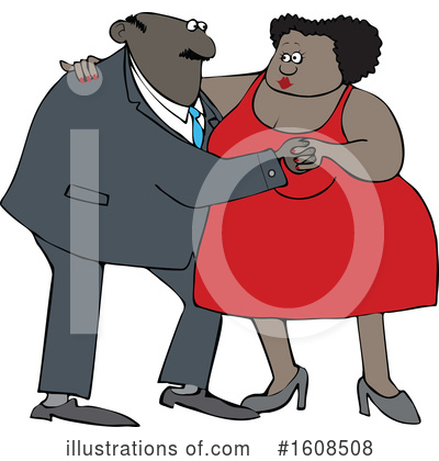 Royalty-Free (RF) Couple Clipart Illustration by djart - Stock Sample #1608508