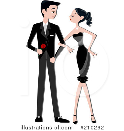 Royalty-Free (RF) Couple Clipart Illustration by BNP Design Studio - Stock Sample #210262