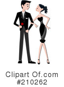 Royalty-Free (RF) Couple Clipart Illustration #210262
