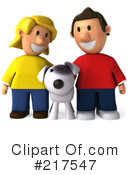 Royalty-Free (RF) Couple Clipart Illustration #217547