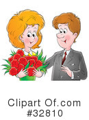 Royalty-Free (RF) Couple Clipart Illustration #32810