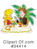 Royalty-Free (RF) Couple Clipart Illustration #34414