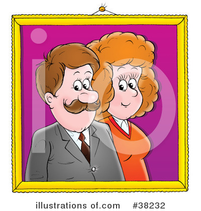 Royalty-Free (RF) Couple Clipart Illustration by Alex Bannykh - Stock Sample #38232