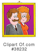 Royalty-Free (RF) Couple Clipart Illustration #38232